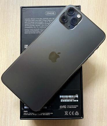 Мобильные телефоны - Бишкек: Б/У IPhone 11 Pro Max 256 ГБ Серый (Space Gray)
