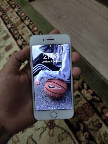 айфон 7 цена in Кыргызстан   APPLE IPHONE: IPhone 7   32 ГБ   Серебристый Б/У