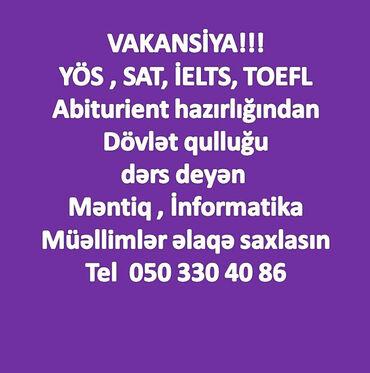Yös, Sat, Miq, Ielts, Toefl, Abiturient, Magistratura, Dövlət qulluğun