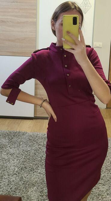 Tamno ljubicasta haljina,proizvodnja turska, haljina je izuzernog