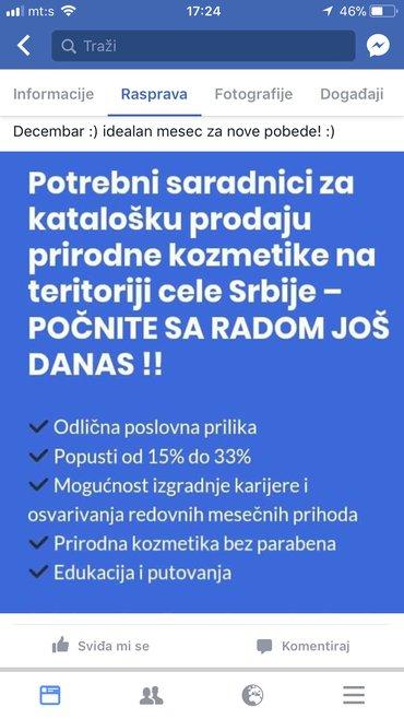Farmasi kozmetika-tražim saradnike za prodaju kozmetike na teritoriji - Novi Sad