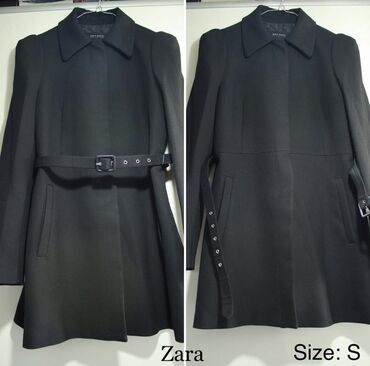 Классическое чёрное пальто- пиджак от Zara! Супер качество . Купила в