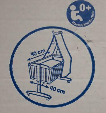 Bebi oprema - Srbija: Prodajem NOVU kolevku za bebe od BUKVE (kao na slici), stranog