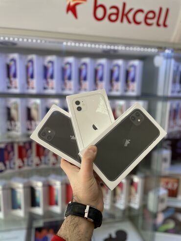 IPhone 11 | 128 GB | Qara | Yeni | Zəmanət, Face ID