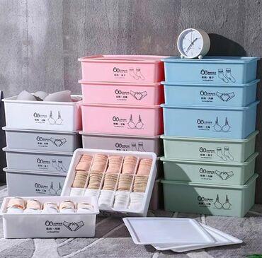 Органайзеры для белья. Есть в трёх цветах: кофе, серый и мятный. Цена