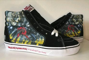 Bakı şəhərində Vans sk8 hi. iron maiden-the number of the beast design. original.