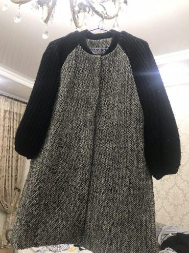 Вязаное пальто осень-весна. Размер стандартный. в Бишкек