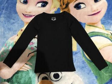 Bodi majica,vel.122.Crno,pamuk/elastin,tek bledja.dužina 41cmrukav,od