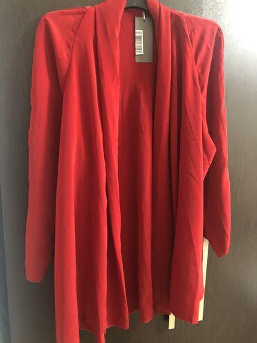 Кардиган новый, брала в Италии за 4800, размер 48-54, цвет красный