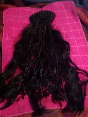 Perika/rep.sa dredovima.duzina 50cm,prirodna kosa