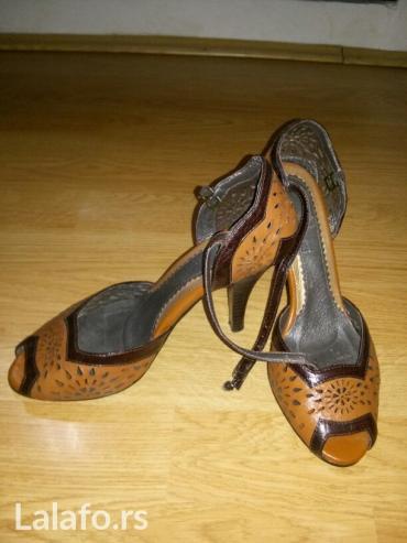 Braon kozne sandale broj pitajte - Srbija: Kozne sandale nove br. 35