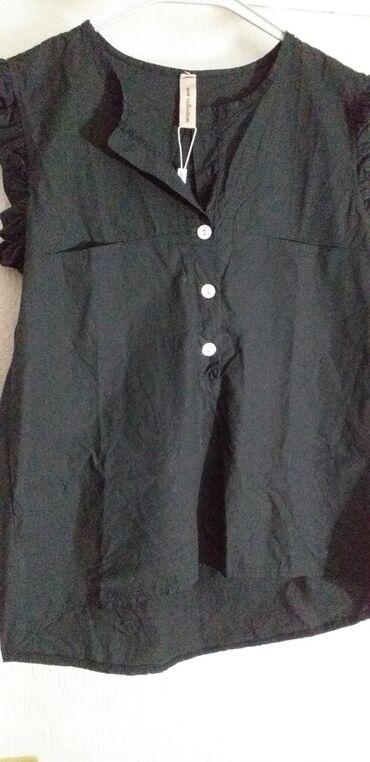 Divne zenske bluze iz Grcke, u crnoj u krem boji