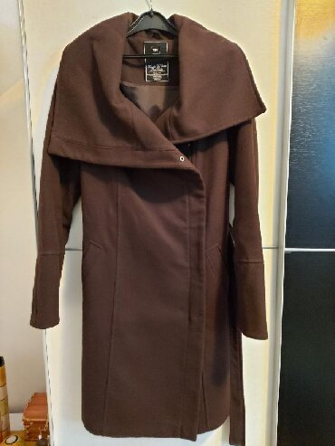 Krzneni kaputi - Kraljevo: TFY brand braon kaput Velicina XL
