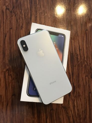 телефон флай ff246 в Азербайджан: Б/У iPhone X 64 ГБ Белый