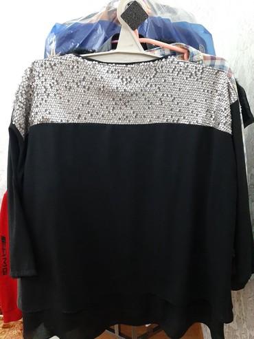 нарядные блузки в Кыргызстан: Нарядная блузка с пайетками. Новая. 54-56 размер даже подойдет на 58