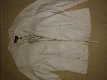 стирающая кожаная куртка в Кыргызстан: Белая кожаная куртка