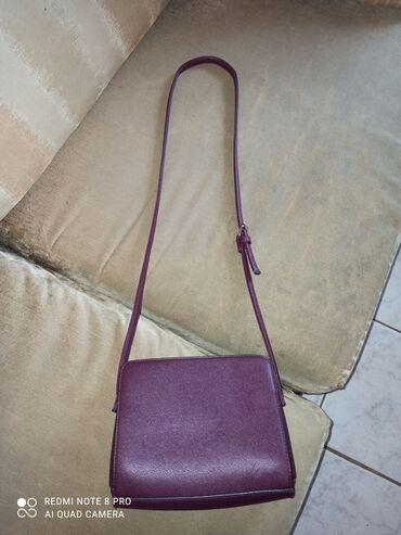 Τσάντα χιαστί μπορντό με 2 μεγάλες και 1 μικρή θήκη