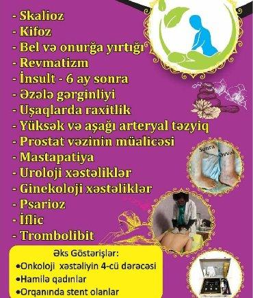 mualice - Azərbaycan: Skolioz,kifoz,onurga yirtiginin mualicesi,insultdan sonra yaranan