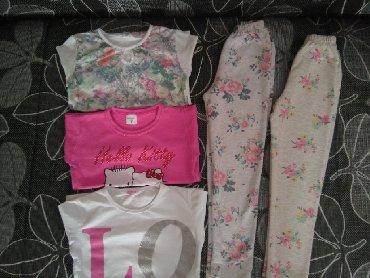 Zimske helanke teksas jaknice bluzice za - Srbija: Paket za devojčicu 128 (7-8gpd)Super stanje!2 Helanke3 BluziceSve za