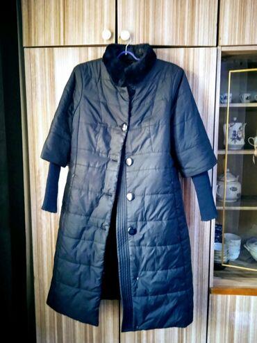 плащ акацуки бишкек in Кыргызстан   ПЛАЩИ: Плащь -пальто.темно-синий.наполнитель синтипон.раз50-52