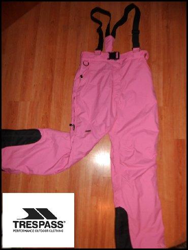 Pantalone ski obim - Srbija: Ski pantalone Tresspass roze kao nove-vodootporne,nepropusnepostavlj