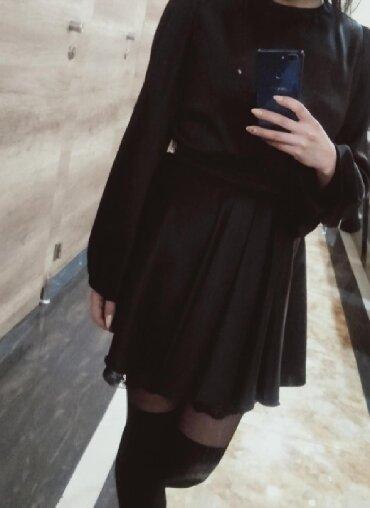 Шикарное платье с рукавами фонарик, материал атлас с гипюром, размер