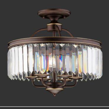 Люстра хрустальная диаметр 50 см камни Crystal корпус металический