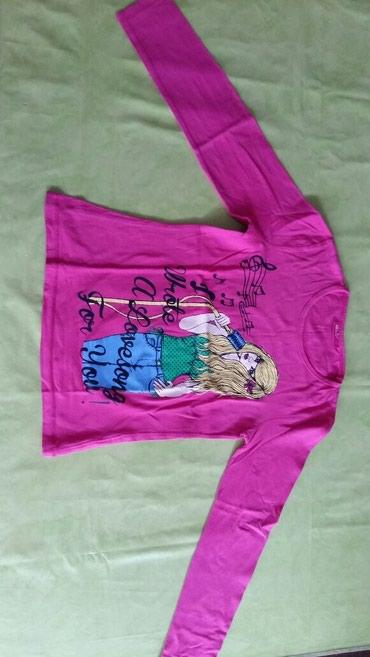 Majica na dug rukav za devojcice vel. 140,polovna i ocuvana,100% pamuk - Petrovac na Mlavi