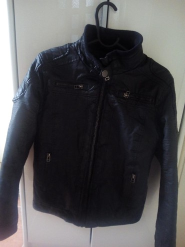 Kozna-jakana - Srbija: Decija kozna jakna teget boje extra kvalitetna PERFEKTNA,dimenzije