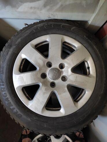 б у шины диски в Кыргызстан: Диски + шины(зимние) Audi Q7 235/60 R18 возможен торг