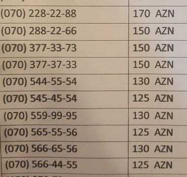 nömrələr - Azərbaycan: Nar nömrələrə endirim bu nömrələr bazada 253 manatdir