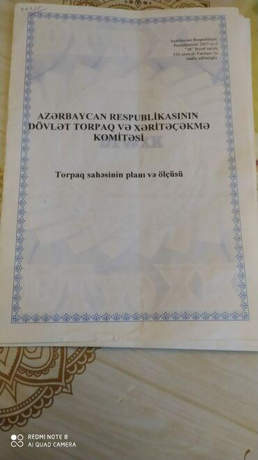 Torpaq sahəsi satılır 8 sot Tikinti, Mülkiyyətçi, Bələdiyyə