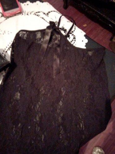 Majica jedan - Srbija: Crni cipkani pamucni kombinezon ili majica duza na jedno rame i
