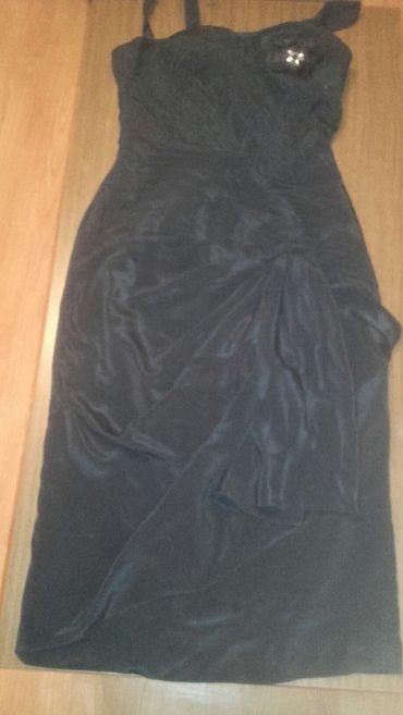 Crna svecana haljina, prelepa, postavljena... Bez tragova nošenja, - Zrenjanin