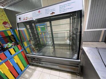 Б/у Холодильник-витрина | Серый холодильник