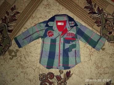 детская джинсовая рубашка в Азербайджан: Рубашка на 6-9мес. Теплая