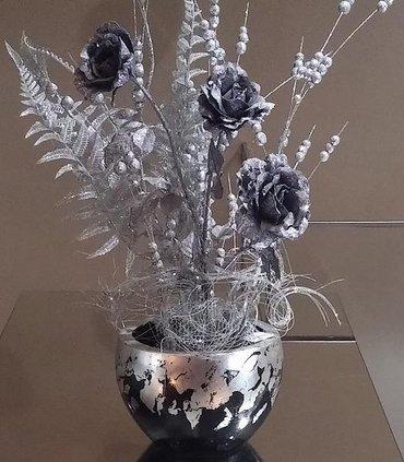 """Декор для дома Новогодняя композиция """"Розы на морозе"""". в Бишкек"""