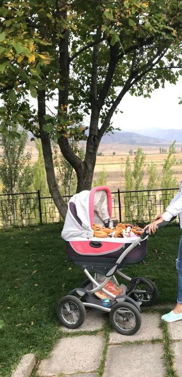 Продаётся фирменная коляска GEOBY с 4 большими колёсами проходимость