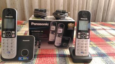 Odlično očuvan panasonic fixni telefon sa dve slušalice,korišten - Belgrade