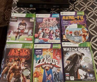 Xbox 360 & Xbox - Azərbaycan: Xbox360 kinect pristavka ve 6 disk satilir