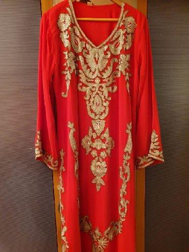 кортеж свадьба в Азербайджан: ОЧЕНЬ КРАСИВОЕ ШИФОНОВОЕ,привозное платье из Кувейта,размер Lсверху