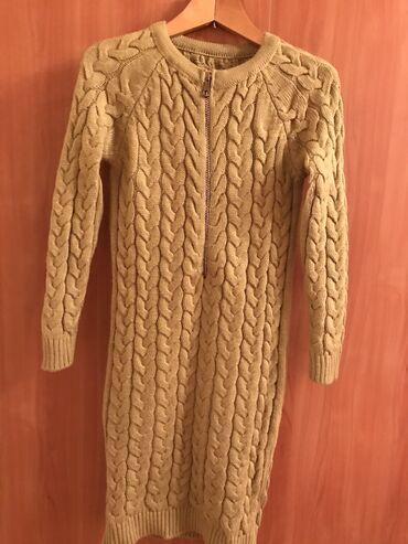 Вязанное платье в отличном состоянии производство Турция 600 сом 46 ра