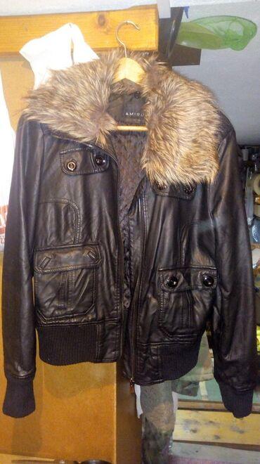 Jakna sa krznom - Srbija: Zenska kozna jakna sa krznom