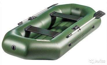 Лодка ПВХ двухместная с надувным дном. Длина 250см. Новая. в Бишкек