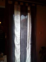Zavese draperi širina 108cm duž 2m45cm, dva ista. - Prokuplje - slika 2