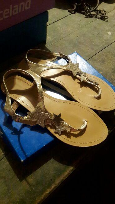 Ženska obuća | Kovin: Prelepe sandale sa zvezdicama br.40 sivo zlatne