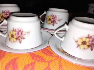 Elektronika - Kikinda: Pet prelepih porcelanskih soljica za crnu kafu stare vise od trideset