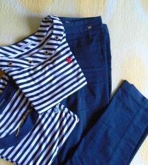 Afrodita mode collection, pantalone u mornarskom stilu. Boja je teget - Belgrade
