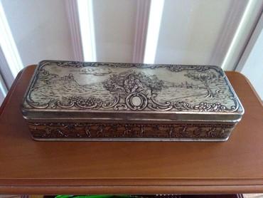 Stara limena kutija za kolekcionare,srebnog izgleda,veoma lepa za neke - Sombor