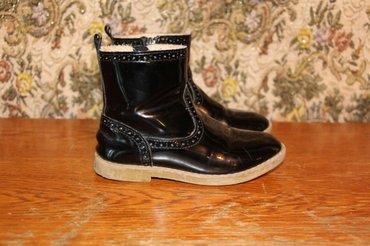 детские лаковые туфли в Азербайджан: Zara утепленные ботинки полусапожки лаковые размер 27Çəkmə 27razmer